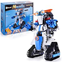 STEM Projects for Kids Remote & APP Controlled Coding Gear Robotics Kit Compatible with Lego Robot Science Kit Birthday Gift Children Bots Hands-on Exercise Brain Activity Toys for Boys Girls (B772)