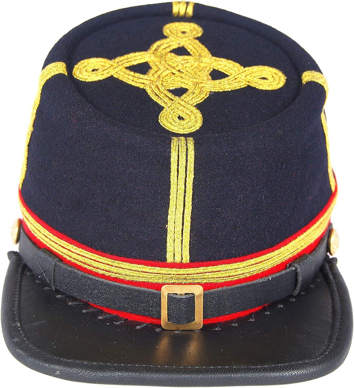 US Civil War Union Leather Peak Colonel Majors 3 braids Leather Peak Kepi