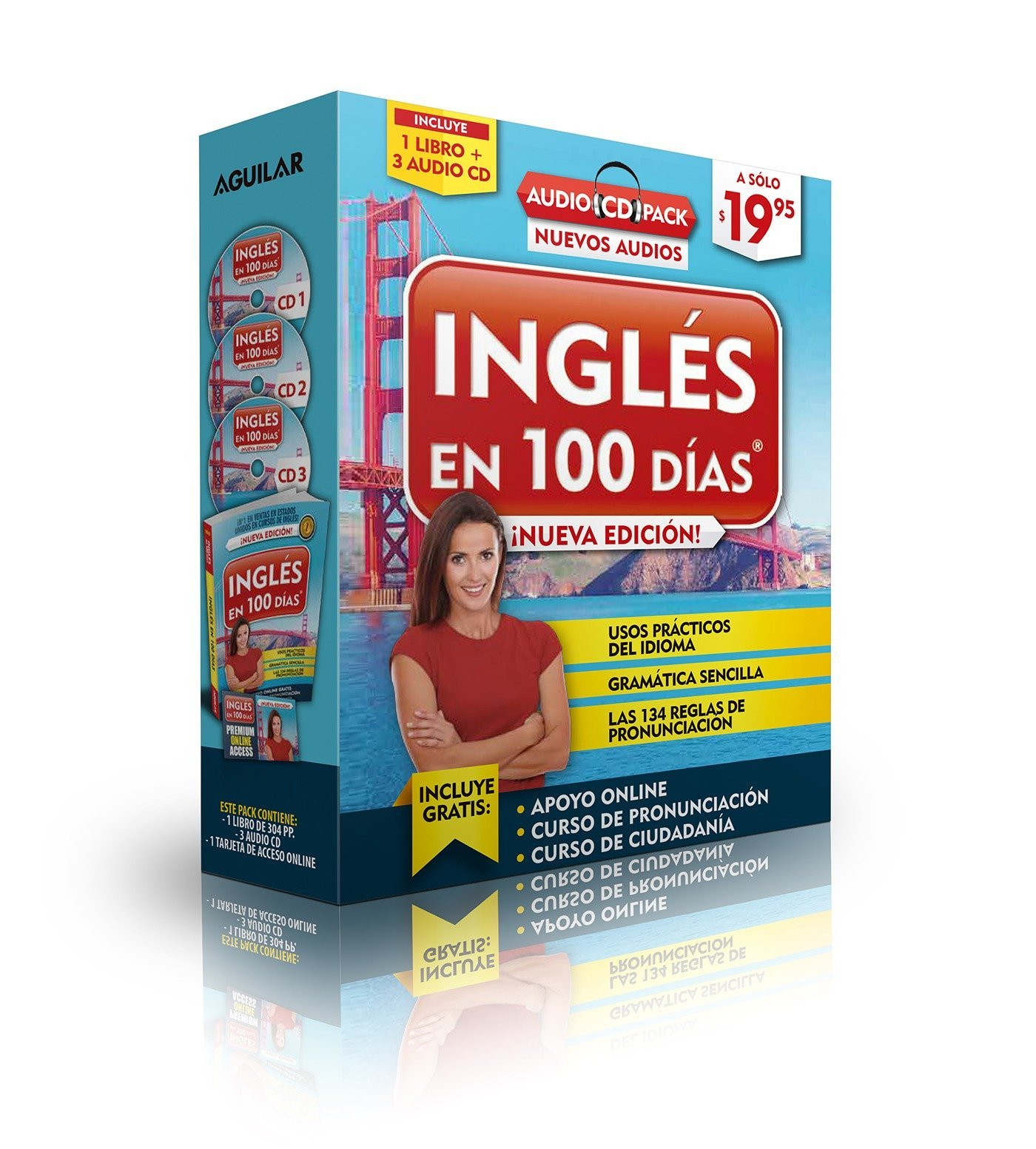 Inglés en 100 días - Curso de Inglés - Audio Pack (Libro + 3 CD's Audio) (Spanish Edition)