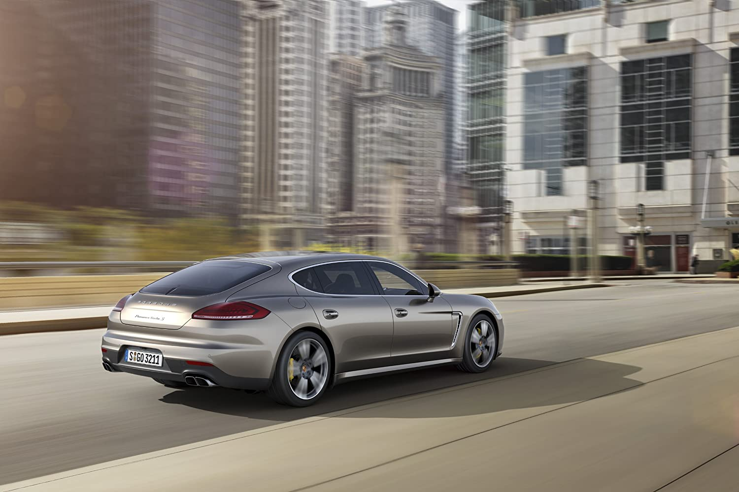 Amazon.com: Porsche Panamera Turbo S Executive (2014) Car Art Poster Print on 10 mil Archival Satin Paper Silver Rear Side Motion View 24
