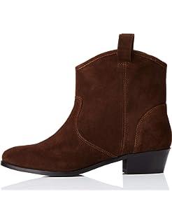 Amazon Marke: find. Cowboystiefel Damen aus Leder mit