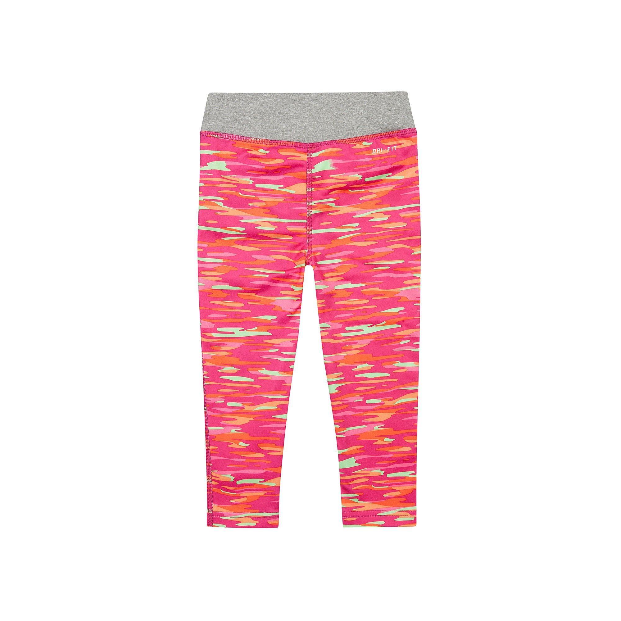 dc3bacc78060ff Galleon - Nike Little Girls' (4-6X) Dri-Fit Skinny Fit Leggings-Pink/Orange/Heather  Grey-4