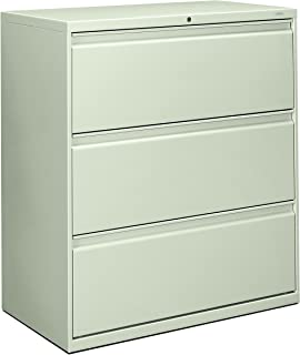 product image for HON 883LQ 800 Series 36-Inch by 19-1/4-Inch 3-Drawer Lateral File, Light Gray