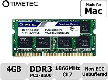 "13/"" Mid 2010 8GB PC3-8500S 1066Mhz Memory MacBook Pro 7,1 2.4GHz 2.66GHz"