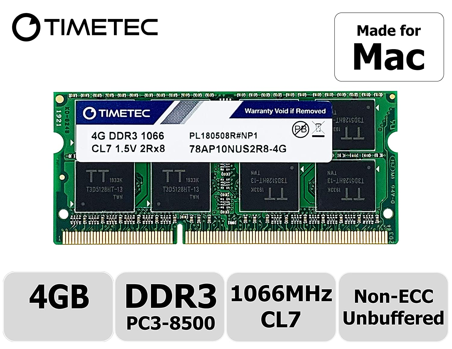 Memoria Ram 4gb Para  Apple Ddr3 1067mhz  / 1066mhz