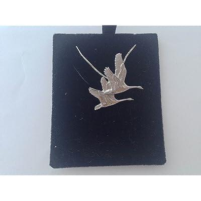 B9 cygnes Pendentif en véritable argent sterling 925 fabriquée à la main avec chaîne prideindetails - 30 cm Boîte cadeau