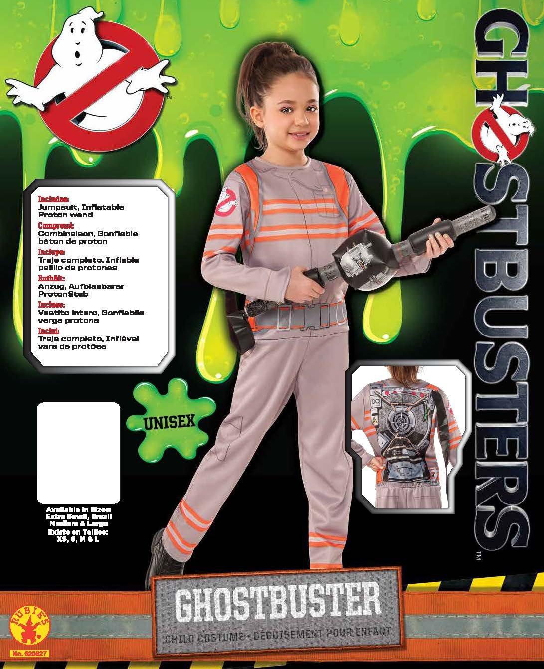 Rubies Costume Tuta Ufficiale Ghostbusters Con Pistola Protonica