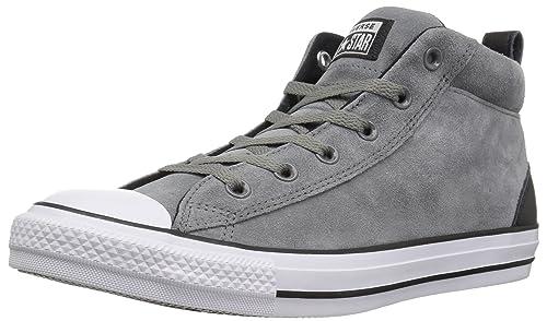 Converse Chuck Taylor All Star Street Suede MID Sneaker Mason Black White 3  M 882cd7627ed