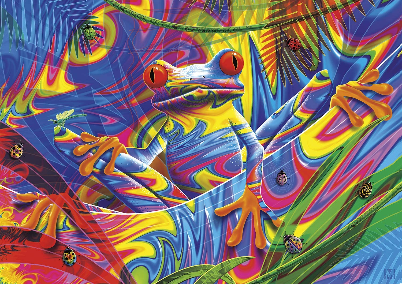 Buffalo Games - Rainforest Frog - 300 Large Piece Jigsaw Puzzle