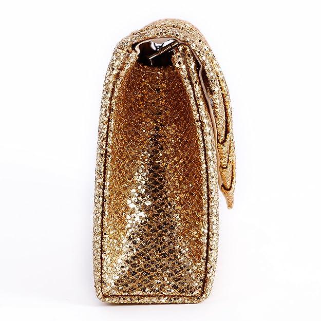 Anladia - Cartera de mano de poliuretano para mujer talla única, color Beige, talla talla única: Amazon.es: Zapatos y complementos