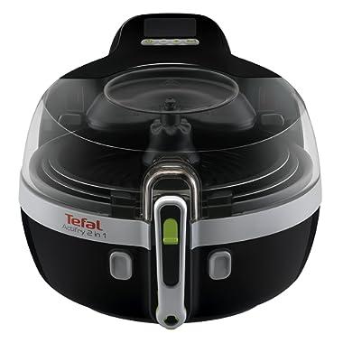 Tefal Actifry YV960120 Freidora sin aceite 2 en 1 para cocina sana, 2 zonas cocción