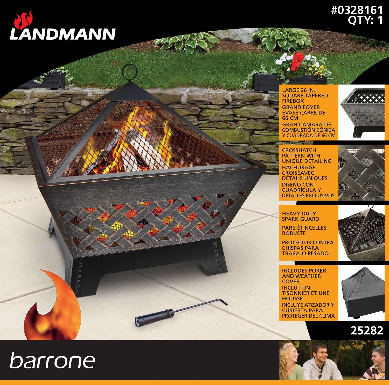 LANDMANN Heavy-Duty Barrone Outdoor Firepit