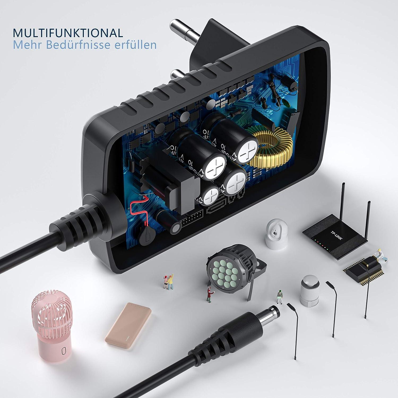 L/üfter Router weitere 12V-Ger/äte NEW POW AC zu DC 12V Netzteil 2A 24W Netzkabel Ladeger/ät f/ür CCTV Sprecher LED-Streifenstecker hub stark Anpassungsf/ähigkeit, 7 Tipps