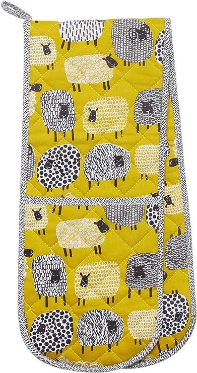 amarillo Pa/ño de cocina algod/ón dise/ño de lunares large Ulster Weavers