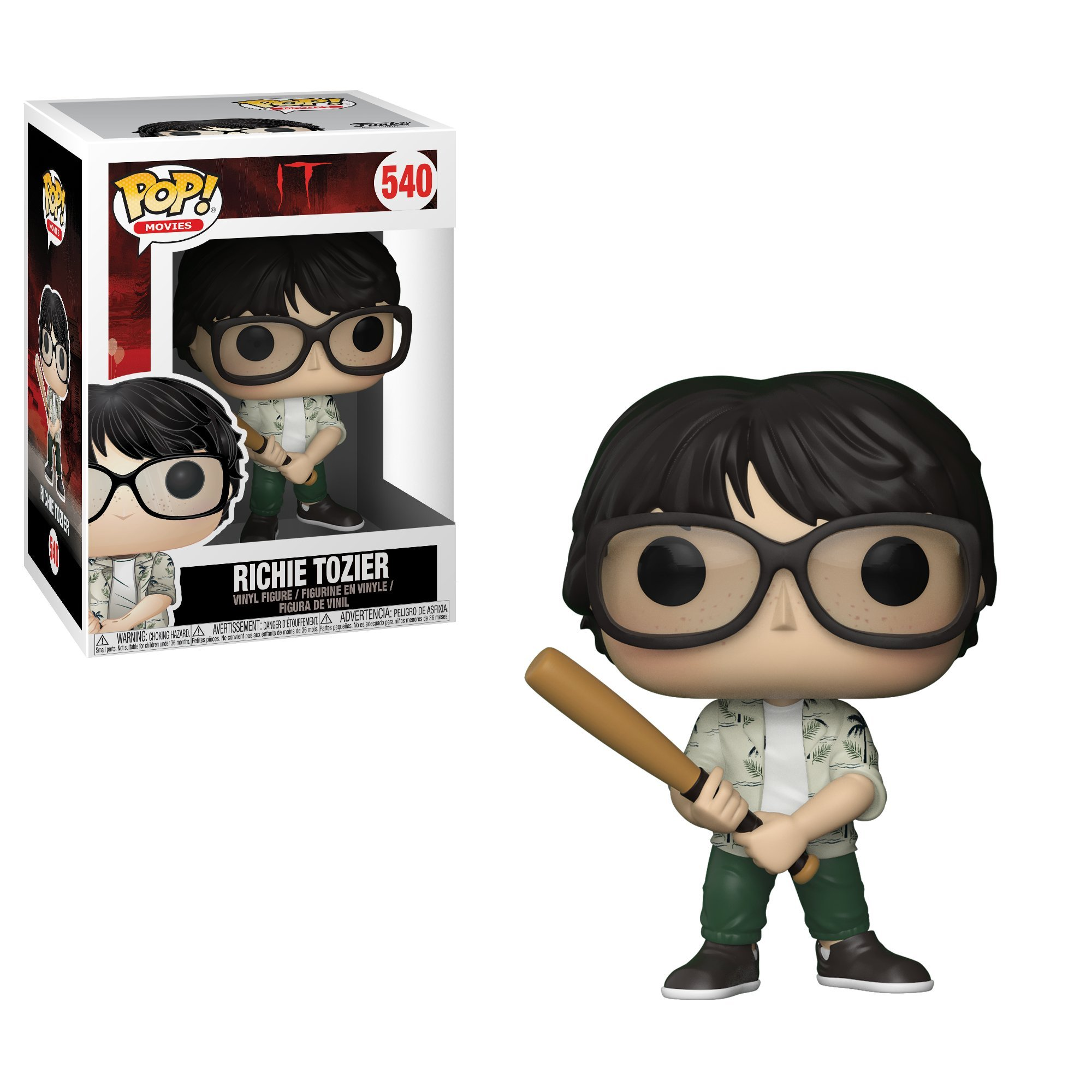 Funko Pop Movies: IT-Richie with Bat Collectible Figure, Multicolor by Funko