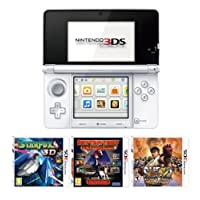 Nintendo Handheld Console 3DS - White 3 Game Pack (Nintendo 3DS)