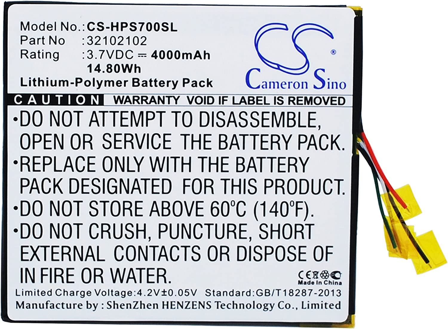 Rechargeable Battery for HP Slate 7 Extreme Replacement for Fabrica 32102102