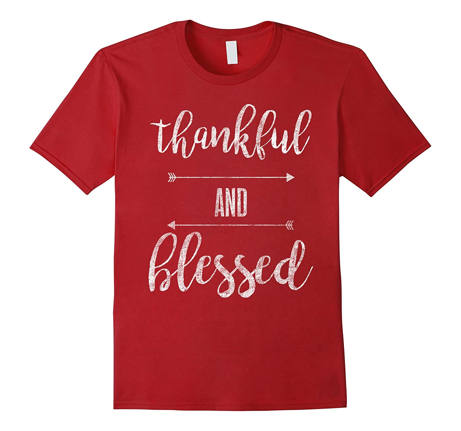 Distressed Thankful And Blessed Fall Thanksgiving Shirt-FL