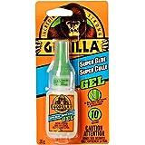 Gorilla Glue Super Glue Gel, Fast-Setting, Thicker Controlled Formula, Anti-Clog Cap, Versatile Cyanoacrylate Glue, Clear, 0.