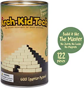 Taksa Toys Arch•Kid•Tech Egyptian Pyramid – Architectural Building Blocks Set for Learning History and Ancient Building Techniques
