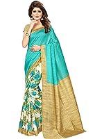 SAREE MALL art silk Saree With Blouse Piece (SRJ027_Green_Free Size)