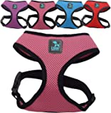 LSW Pet Design No Pull Small Dog - Pet Harness – Breathable Mesh and Sizes (Pink Small)