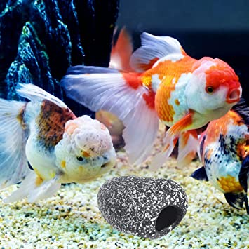 1 UNID Tanque de Peces de Acuario Secenery Decoración Fish Hideaway Ornamento Fish Breeding Cave Hole Stone Size S: Amazon.es: Productos para mascotas