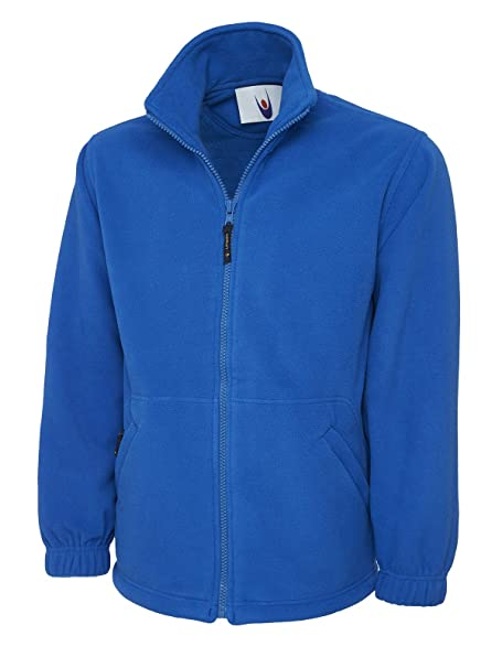 Uneek Clothing-mens-Classic Full Zip Micro Fleece Jacket-300 gsm at Amazon Mens Clothing store: