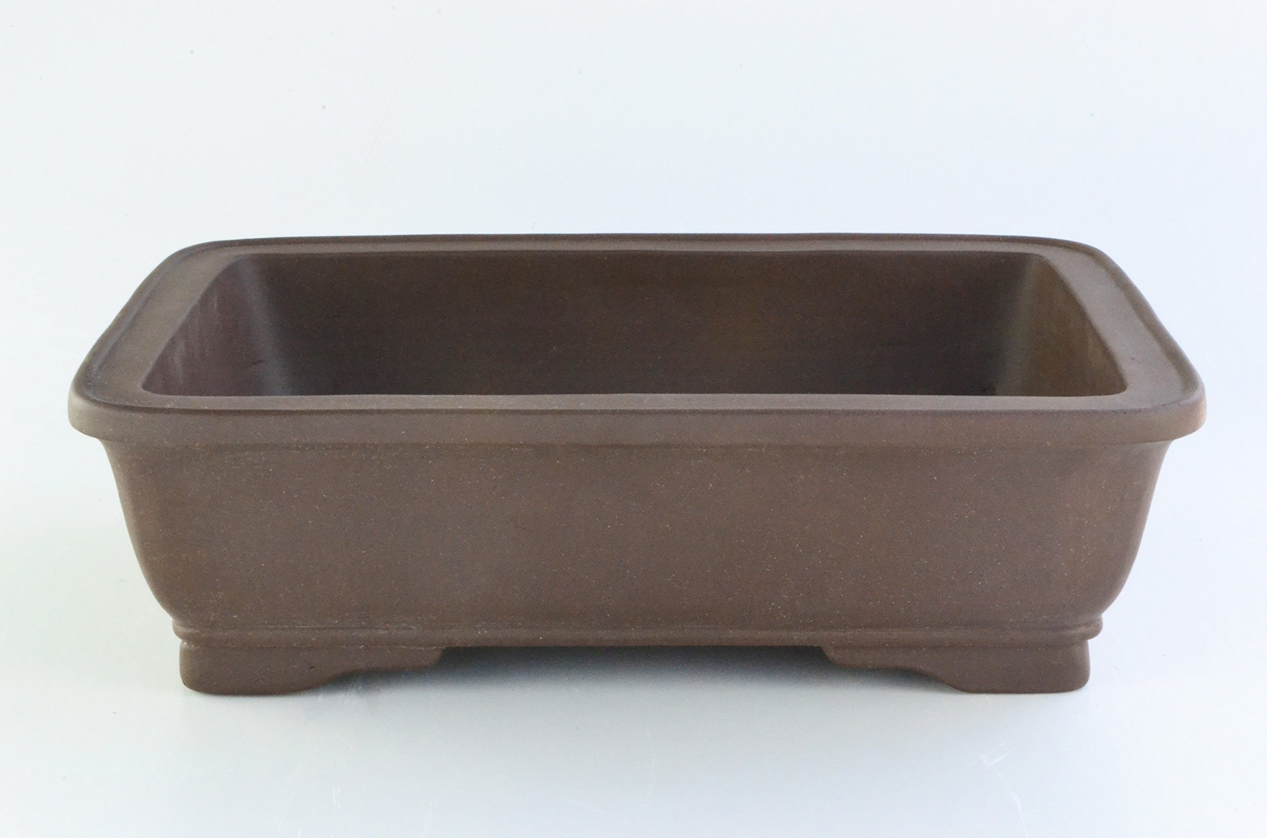 Large Unglazed 24'' Rectangular Yixing Purple Clay Ceramic Bonsai Pot(PA42-24) by BonsaiSupplies