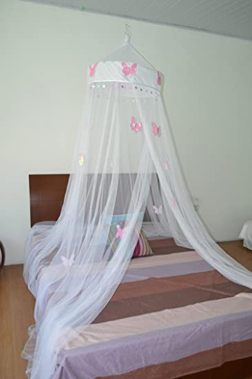 butterfly bed canopy mosquito net for all size bed room decoration party events - Gray Canopy Decoration