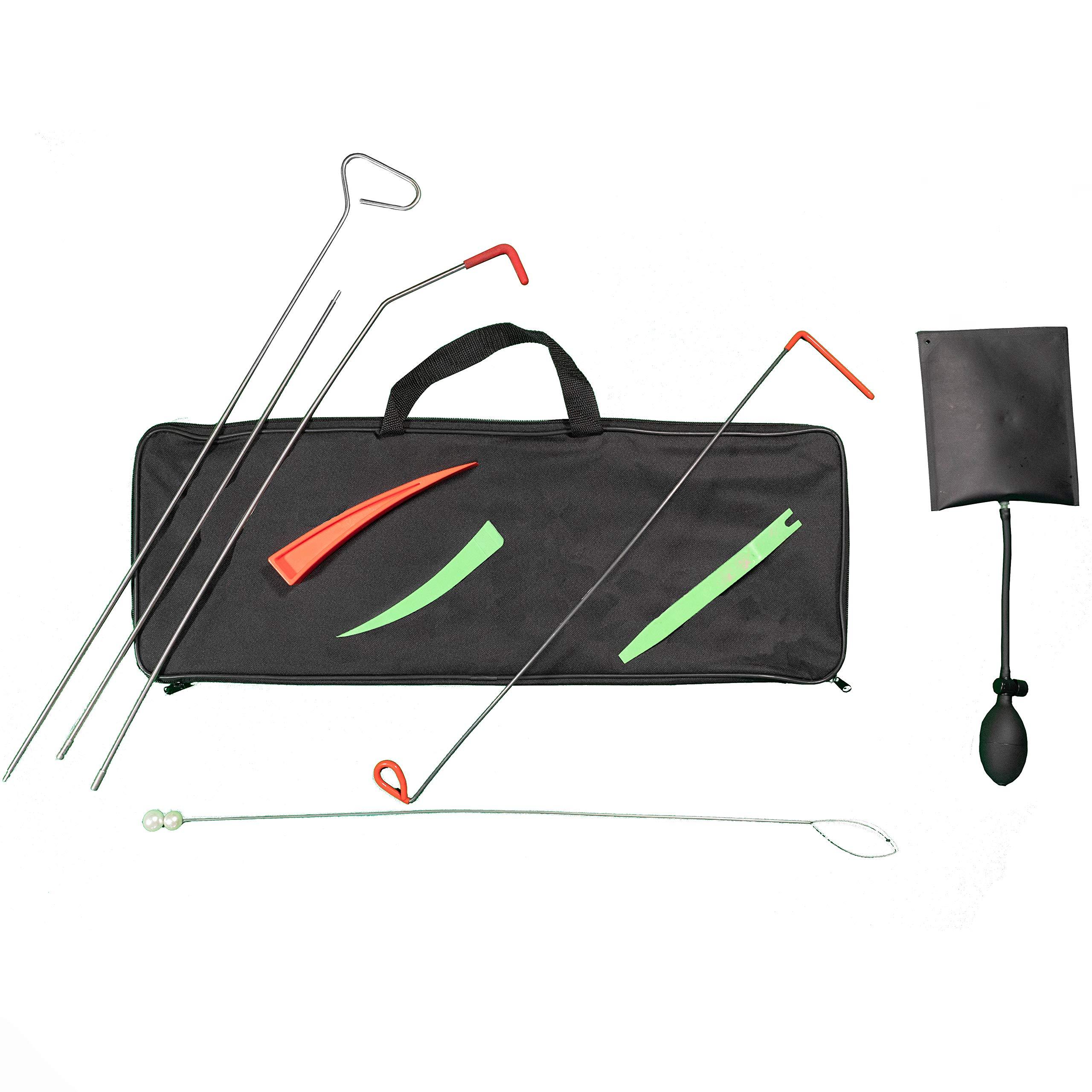 TSafe Full Professional Kit- Long Reach Grabber, Air Wedge, Knob Grabber, 2 Non Marring Wedges, Pry Tool, Short Grabber, Carrying Case by TSafe