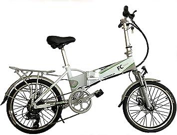 FC Bikes Bicicleta eléctrica Plegable con portabultos, e Bike ...