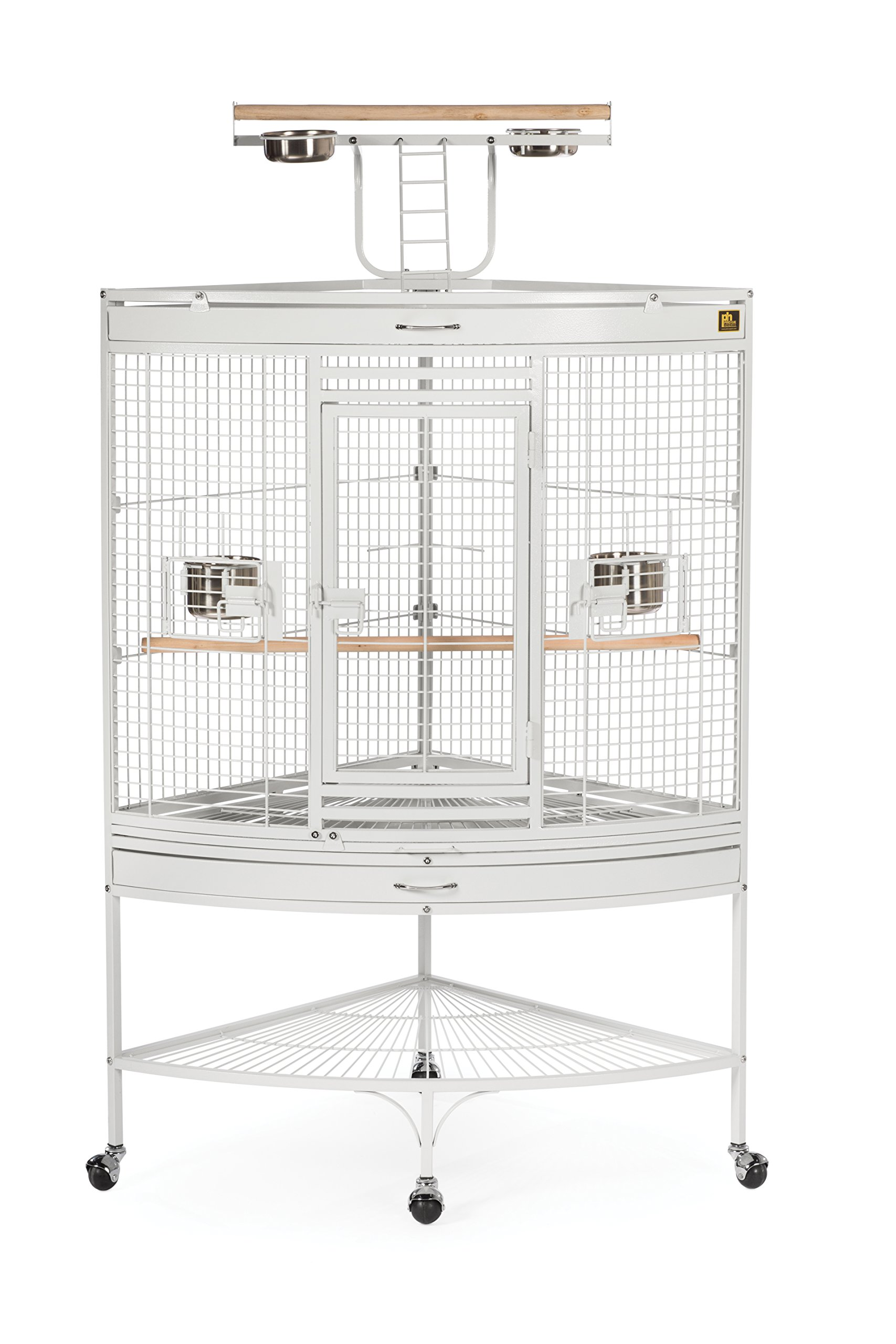 Prevue Pet Products Large Corner Bird Cage 3156W White, 37-Inch by 27-Inch by 63-Inch by Prevue Hendryx