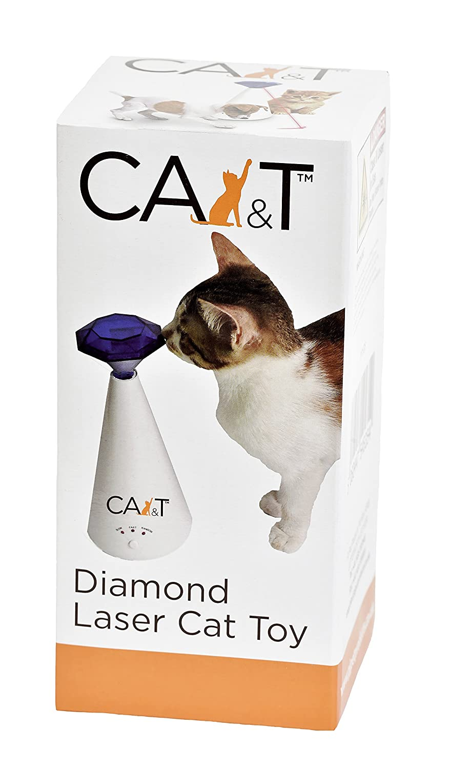CA&T Diamond Laser Cat Toy - 3 Operating Modes - Interactive/Automatic
