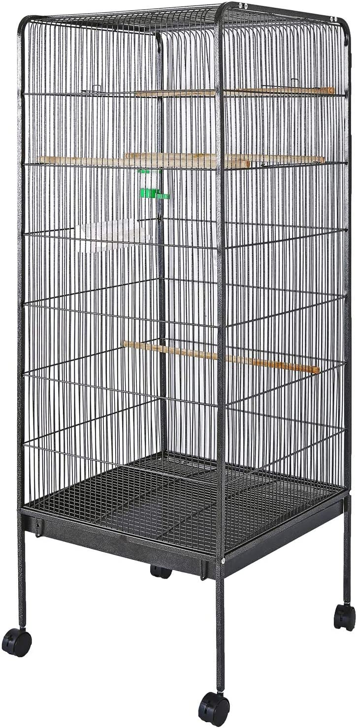 WilTec Jaula pájaros Pajarera XL Casa periquitos Canarios 146x54x54cm Mascotas Animales Aves Loros Cacatúas