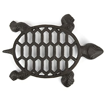 Gasare Cast Iron Trivet Vintage Turtle Design For Hot