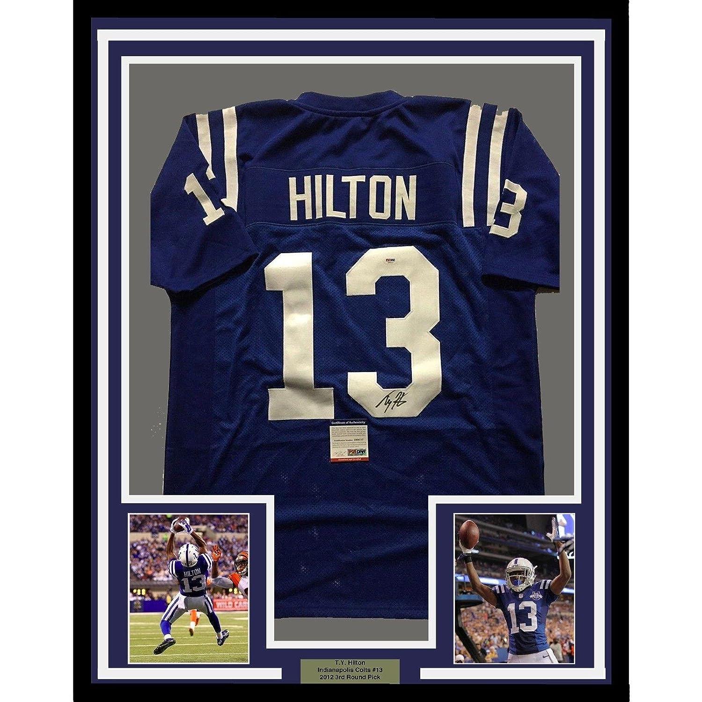 reputable site 577b8 de690 85%OFF T.Y. Hilton Autographed Jersey - FRAMED TY 33x42 Blue ...