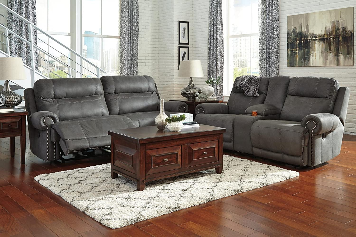 Power recliners ashley furniture ashley furniture signature design austere Ashley couch and loveseat