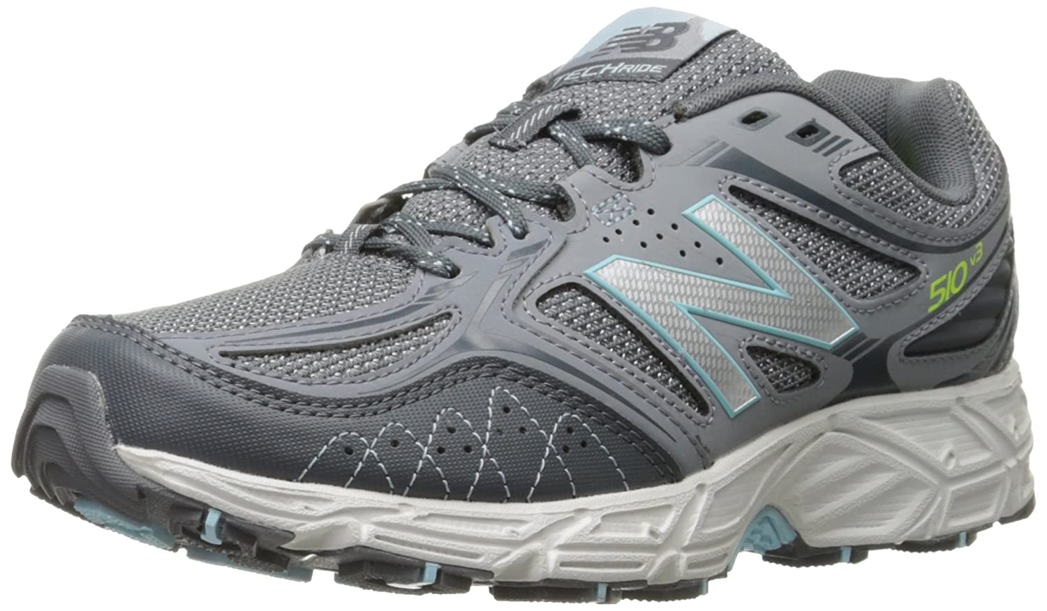 New Balance Women's WT510V3 Trail Running Shoe B0163GAA9K 6.5 D US|Grey/Freshwater