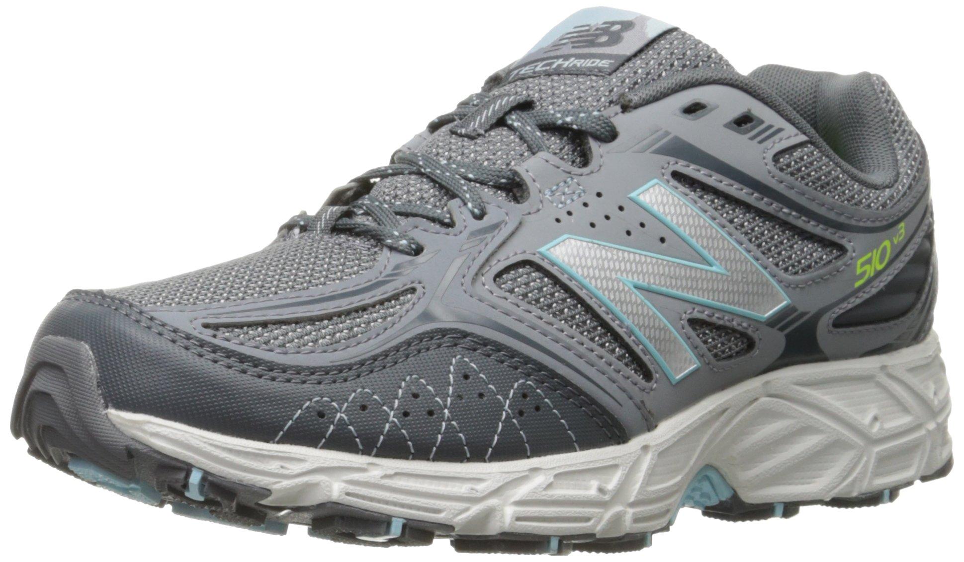 New Balance Women's WT510V3 Trail Shoe-W, Grey/Freshwater, 8.5 B US