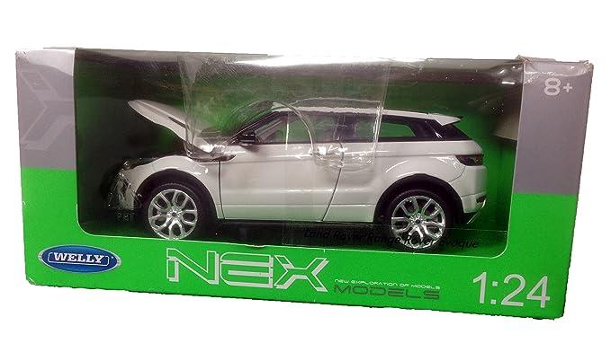 Land Rover Range Evoque Blanco 3 Puertas desde 2011 1//24 Welly Modelo Auto Con