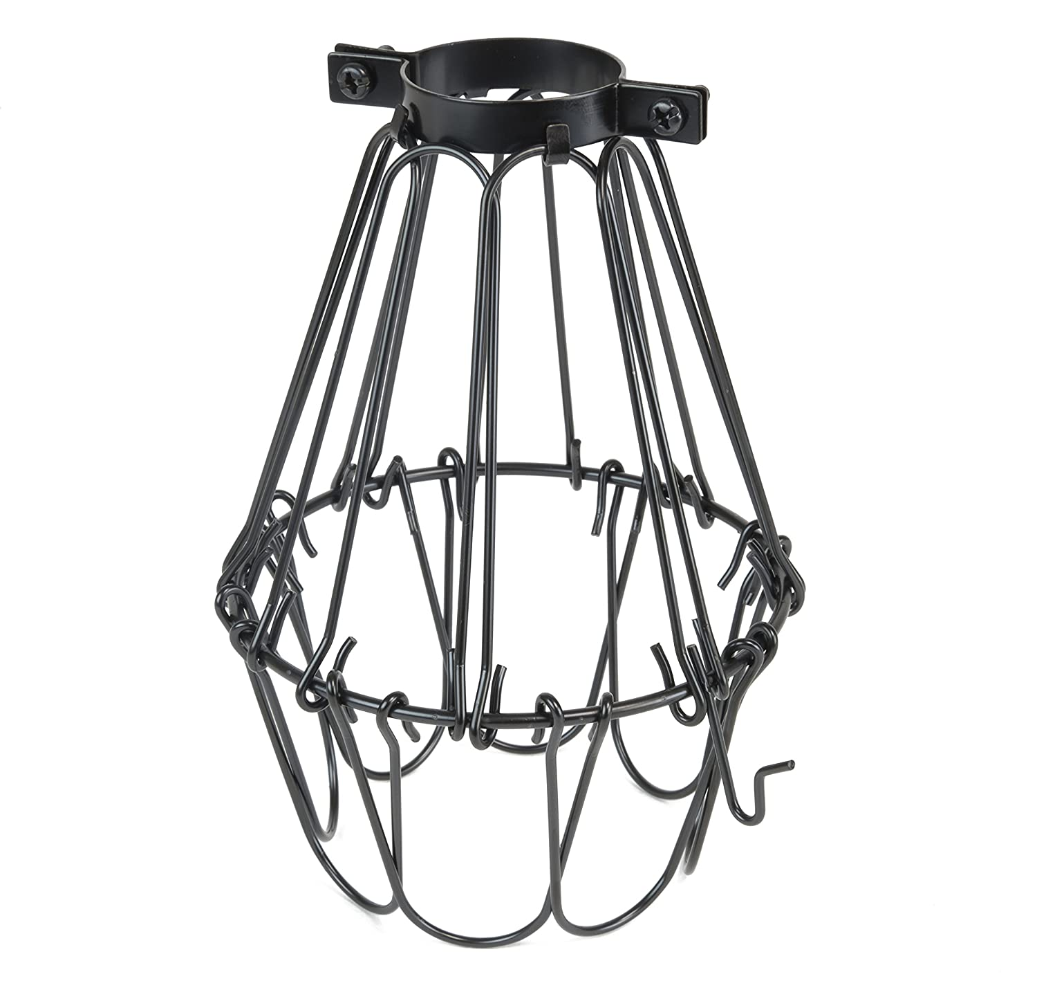 Sturdy construction metal wire cage light fixture set 15 vintage sturdy construction metal wire cage light fixture set 15 vintage fabric cord toggle switch and radio style edison bulb in black amazon arubaitofo Images