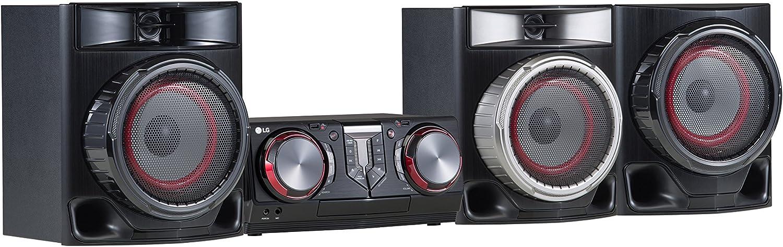 LG CJ45 Sistema de Audio para el hogar Minicadena de música para Uso doméstico Negro, Rojo: Amazon.es: Electrónica