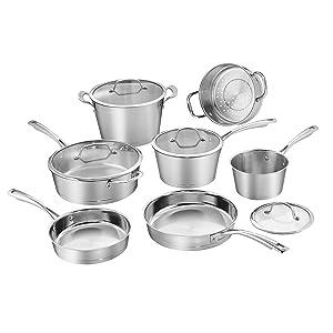 Cuisinart 72I-11 Conical Stainless Steel Cookware Set Medium