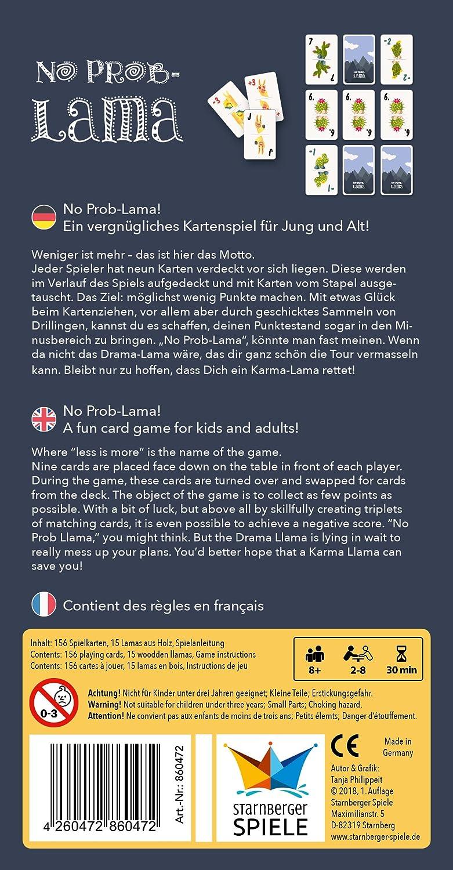 Starnberger Spiele 86047 - No Problama - Vergnügliches Kartenspiel ...