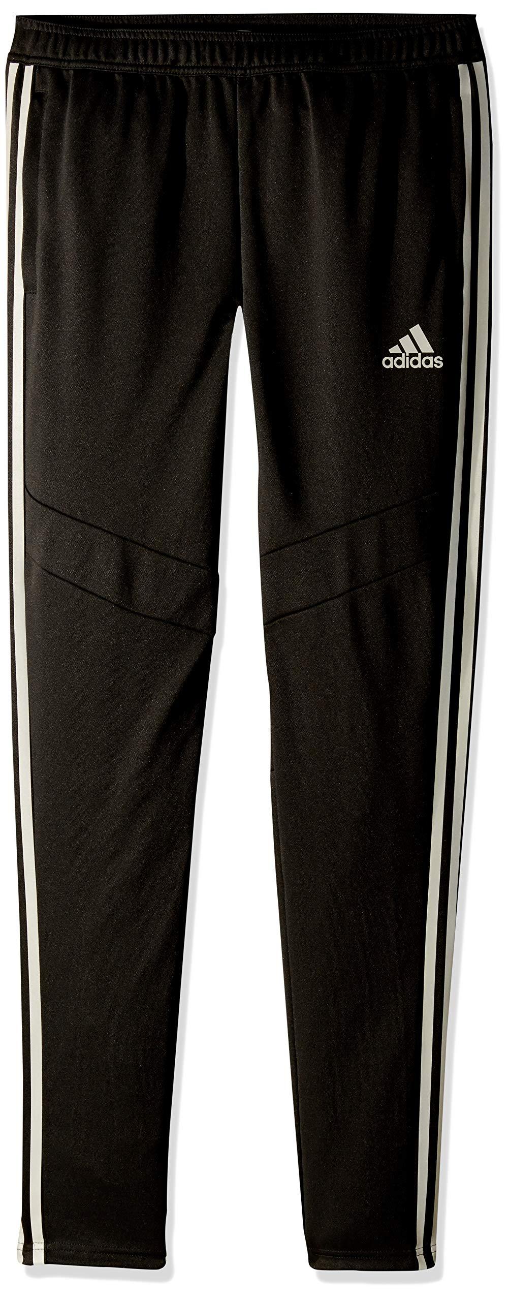 adidas Youth Soccer Tiro 19 Training Pant, Black/Reflective Silver, X-Small