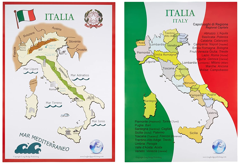 Amazon Long Bridge Publishing Italian Language School Poster