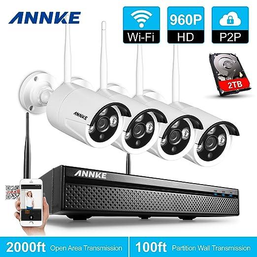 6 opinioni per ANNKE 960P Kit Sorveglianza Wifi 4 Canali 4 IP Telecamera Sorveglianza 1,3
