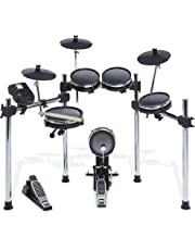Alesis Surge Mesh Kit | Eight-Piece Electronic Drum Kit with Mesh Heads, Chrome Rack and Surge Drum Module including 40 Kits, 385 sounds, 60 Play Along Tracks and USB/MIDI Connectivity