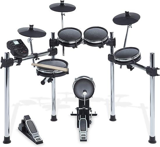 front facing alesis surge mesh electronic drum kit